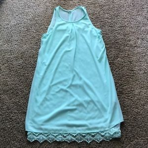 Juniors beautiful mint dress. NWT